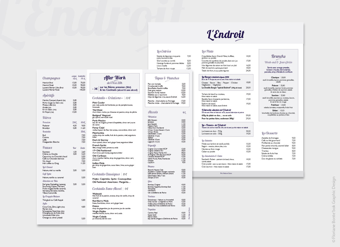 lendroit-menu-table